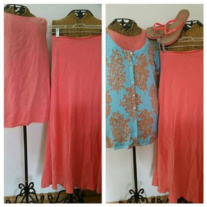 Coral Maxi Dress by Eileen Fisher Silk Tank Long