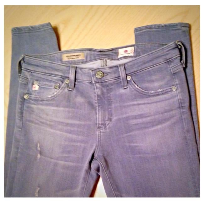 Item - Gray Distressed The Legging Ankle Skinny Jeans Size 27 (4, S)