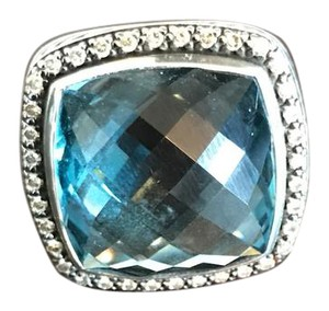 David Yurman Albion Hampton Blue Topaz Ring
