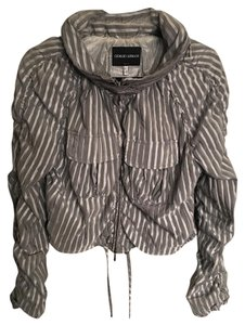 Giorgio Armani Fashion Short Grey and Silver Jacket