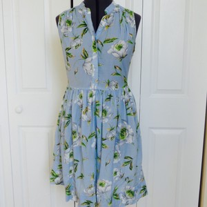 French Connection short dress Light Blue Floral on Tradesy