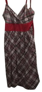Derek Heart short dress red/black/grey plaid on Tradesy