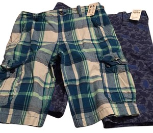 abercrombie kids Bermuda Shorts plaid and navy