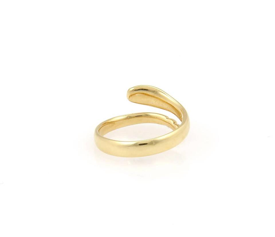 0262033ccbdfd Tiffany & Co. Yellow Gold Elsa Peretti Bypass Snake - Size 6 Ring 48% off  retail