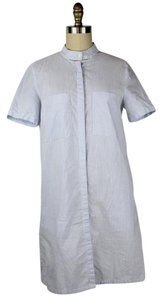 Urban Renewal short dress Blue, White Button Down Shirt Shirt Short Sleeve Striped on Tradesy