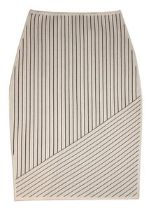 Alexander Wang Striped Skirt white black