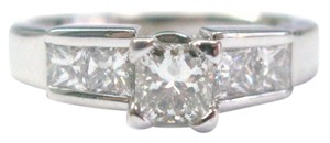 Other 18Kt Princess Cut Diamond Engagement White Gold Jewelry Ring 1.31CT