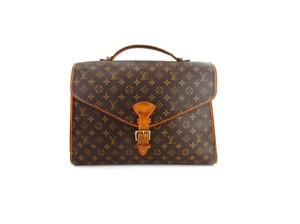 Louis Vuitton Monogram Leather Beverly Tote in Brown