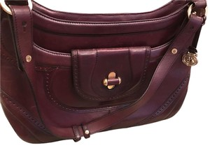 Brahmin Leather Satchel in Burgundy