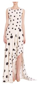 Oscar de la Renta Polka Dot Silk Hi-low Tiered Store Display Dress