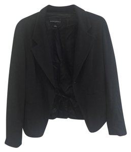 Banana Republic Stitching Formal Work Fitted Black Blazer
