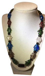 Anna's Art Eye Catching Murano Glass Necklace