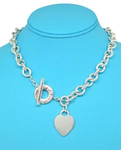 Tiffany & Co. Tiffany & Co Heart Charm Toggle Necklace 16