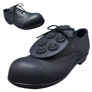 Belly Button Japan Asian Leather Lace Up Black Mules