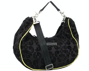 Petunia Pickle Bottom Chenille Touring Tote Changing Pad BLACK Diaper Bag