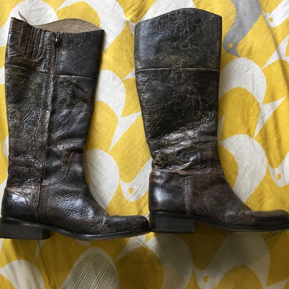 b85954d2237 Steven by Steve Madden Brown Reins - Distressed Leather Boots ...