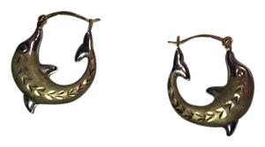 Kay Jewelers two tone 14k gold earrings