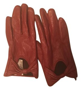 Urban Outfitters Red leather motorcycle gloves