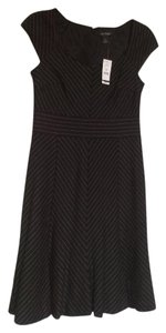 White House | Black Market Pinstripe Cap Sleeve Dress