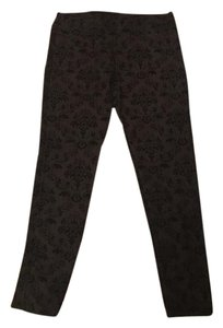 Xhilaration Felt Ornate Pattern Black Leggings