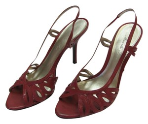 Marcello Paci Leather Size 9.00 M Very Good Condition Reddish/Wine Sandals