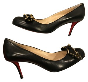 Christian Louboutin Ballalarina Bow Studded Spike Black Pumps