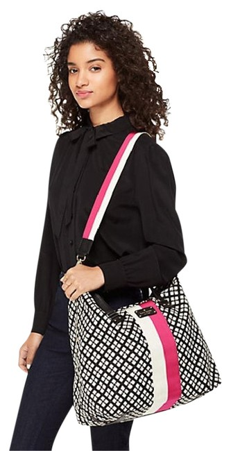 Item - Classic Juliet Black White Pink Cotton Weekend/Travel Bag
