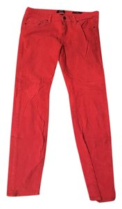 BDG Cigarette Cords Stretch Midrise Skinny Pants Coral