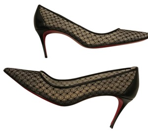 Christian Louboutin Saramor Fishnet Lace Heels Black Pumps