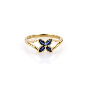 Tiffany & Co. Tiffany & Co. VICTORIA Sapphire 18k Yellow Gold Floral Ring Size 5.5