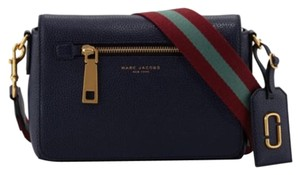 Marc Jacobs Guitar Strap Pebbled Leather Cross Body Bag