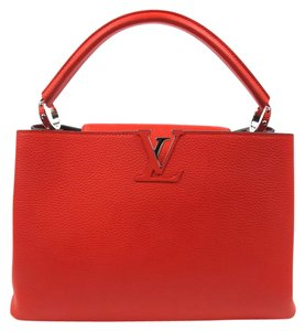 Louis Vuitton Parnassea Capucines Mm Lv Tote in Red