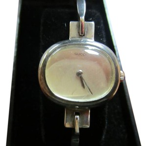 Gucci SALE Women's Gucci Watch Accurate Time Sterling Silver Case and Band