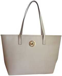 Michael Kors White Travel Tote in Optic White