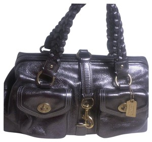 Coach Daphne Gold Tag Satchel in Pewter
