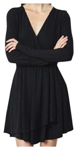Other Swing Cocktail Long Sleeve Wrap Layered Dress