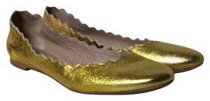 Chlo Metallic Gold Flats