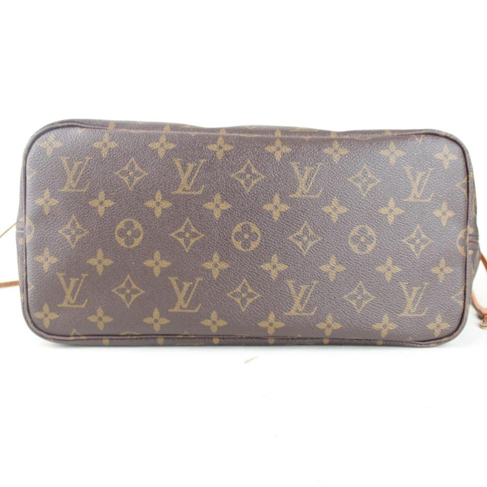 7556e631bd26 Louis Vuitton Neverfull Medium Mm Brown Lv Classic Monogram Cowhide Leather  Tote - Tradesy
