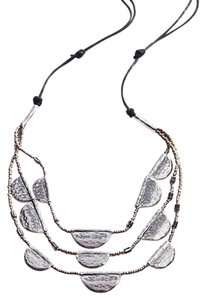 J. Jill hummed metal cascading necklace