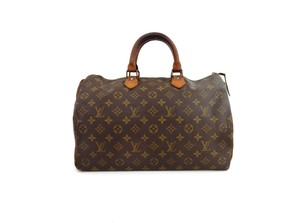 Louis Vuitton Speedy Monogram Tote in Brown