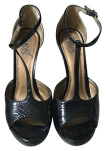 Carlos by Carlos Santana Black Patent leather Platforms