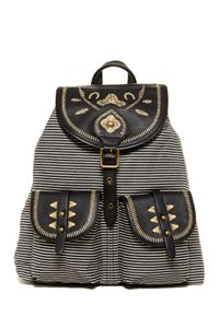 Isabella Fiore Leather Cotton Backpack