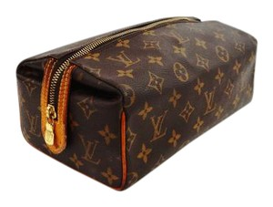 Louis Vuitton Vintage Monogram Canvas Leather Travel Makeup Dopp Bag France
