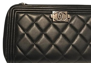Chanel Le Boy Quilted Continental Wallet