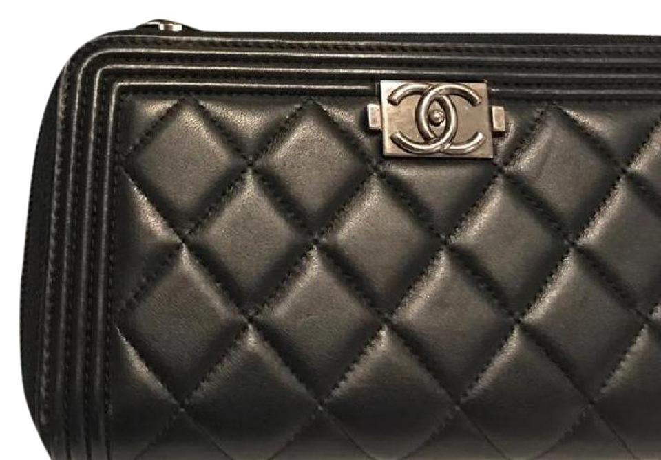 95932f3ed30a Chanel Black Boy Le Quilted Continental Wallet - Tradesy