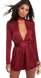 PrettyLittleThing Choker Backless Satin Dress