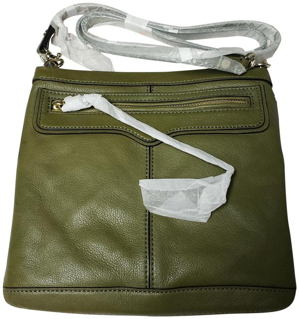 Item - Sawyer Morning After Pouch Festival Fern Army Green Leather Shoulder Bag