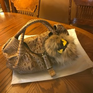 Fendi Tote in Crocodile Brown