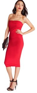 Missguided Bandeau Midi Chic Strapless Bodycon Dress