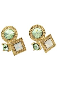 Ocean Fashion Fashion golden rim green crystal earrings